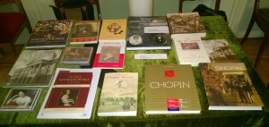 Publications on display at Symposium.